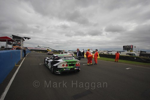 On the grid during the Ginetta GT4 Supercup during the BTCC Knockhill Weekend 2016