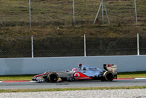Jenson Button in his McLaren in Winter Testing, Circuit de Catalunya, March 2012