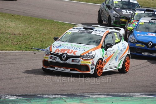 Max Coates at Rockingham during the Clio Cup, August 2016