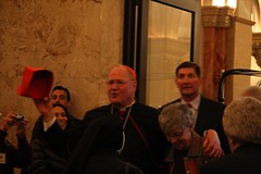 Cardinal Dolan Greeting Those Seated in the Shrine
