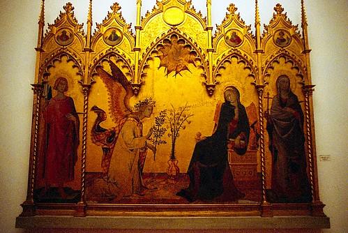 Simone Martini: Annunciation - Uffizi - Florence