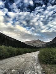 Walking up the road towards the Kite Lake trailhead.