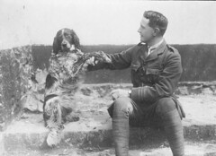 Lieutenant-Colonel John McCrae and his dog Bon...