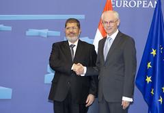 President Morsi meets EU Council President, He...