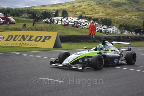 Zane Goddard in the final British Formula Four race during the BTCC Knockhill Weekend 2016