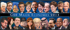 G20 2013 Heads of Government - Caricatures