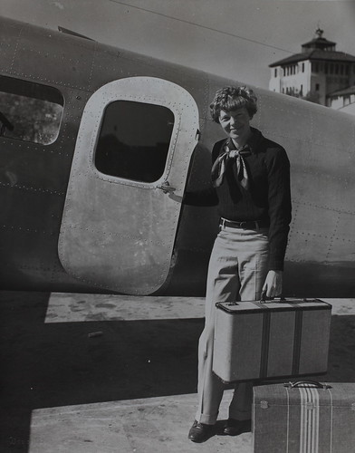 Amelia Earhart by aircraft