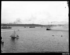 Squadron of Australia's first naval fleet arri...