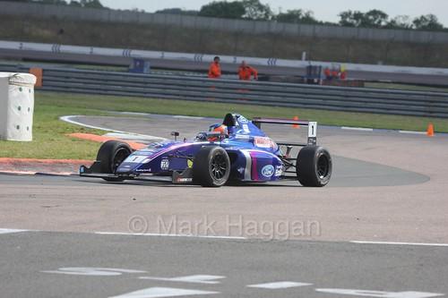Devlin DeFrancesco in British F4 at Rockingham, August 2016