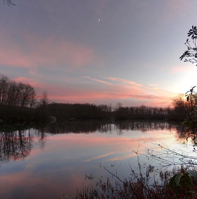 Lake Skannatati at sundown