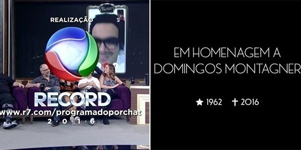 """""""Programa do Porchat"""" presta homenagem a Domingos Montagner"""