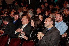 A rapt audience.