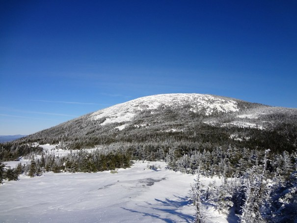Baldpate Mountain East Peak from Sag on the Appalachian Trail