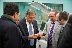 Mr Ratan Tata with Dr Greg Gibbons and Dr Ben ...