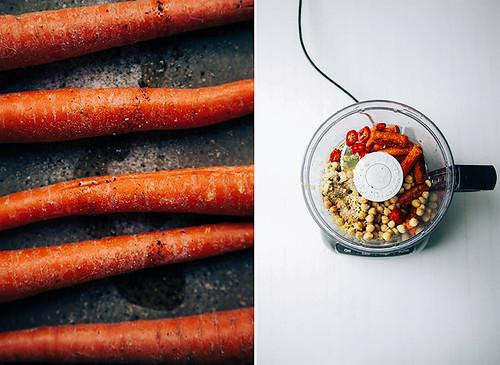 Cenouras assadas com grãos e especiarias
