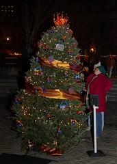 The WaterFire Providenc Christmas Tree