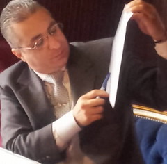 Rabih RABAA asks in a press conference about t...