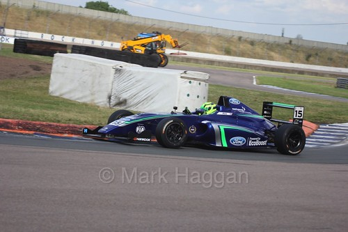 James Pull in British F4 at Rockingham, August 2016