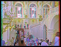Hermitage Stairs [anaglyph]