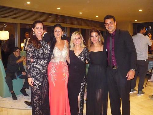 Com Evania Lopes, Lurdinha Costanza, Vanessa Marques, Anne Beckhauser e Marcelo Ferrari.