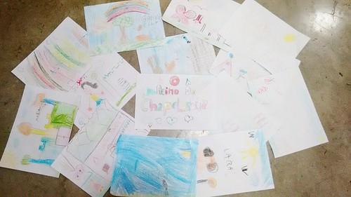 Mais uma atividade do Villa Park, a criançada está adorando desenhar O Reino da Chapelândya.
