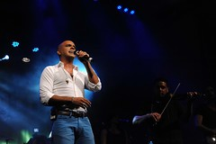 Eyal Golan, an Israeli singer, performed for t...