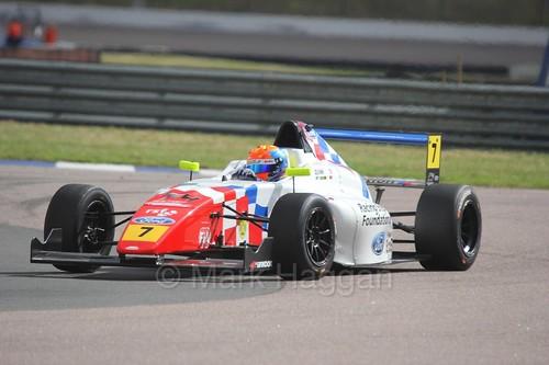 Alex Quinn in British F4 at Rockingham, August 2016
