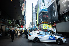 Increased NYPD presence in Times Square
