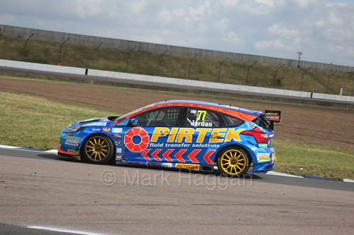 Andrew Jordan on the grid at Rockingham, August 2016