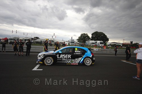 Aiden Moffatt's car during the Grid Walks at the BTCC 2016 Weekend at Snetterton