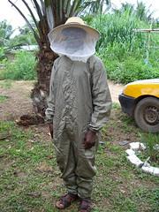 Matthew in bee suit