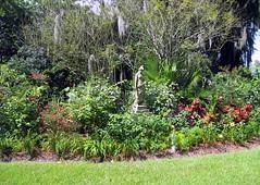 Houmas House Plantation - Gardens - Young Lady...