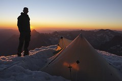 """Khufu CTF3 + Customized Full Breathable-Ripstop Inner Shelter was pitched at the Dôme de Neige of the Écrins (4,015m) • <a style=""""font-size:0.8em;"""" href=""""http://www.flickr.com/photos/40286809@N02/7835976958/"""" target=""""_blank"""">View on Flickr</a>"""