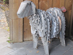 Iron sheep at Sheepworld