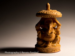Hindu statue: face