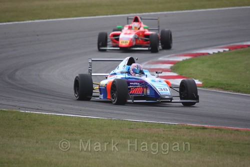 Jamie Caroline in British Formula 4 during the BTCC 2016 Weekend at Snetterton