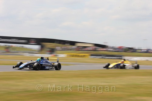 Alexandra Marinescu and Alexandra Mohnhaupt in British Formula 4 during the BTCC 2016 Weekend at Snetterton