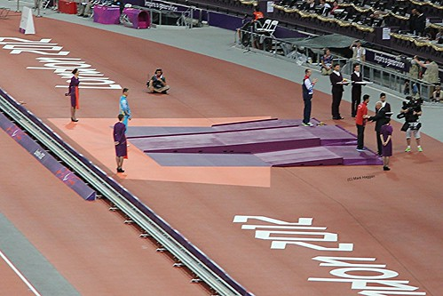 The medal ceremony for the men's T36 200m at the London 2012 Paralympic Games