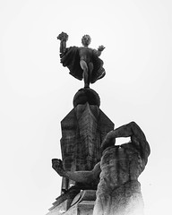 Day 480 - The Freedom Monument at the center of Trujillo. Something I was thinking while laid out on the tarp the other night: Man believes he can ascend from his current state when he cannot. There is no higher state.  To be happy he must realize this, t