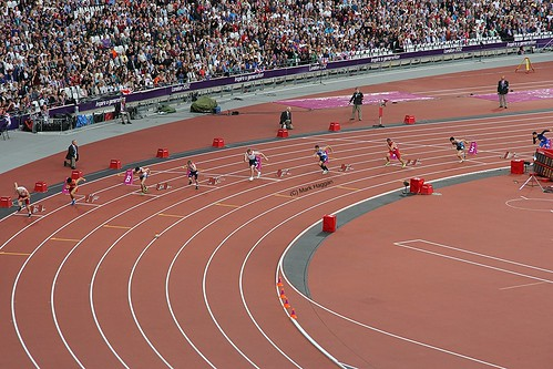 The start of the T36 men's 200m at the London 2012 Paralympic Games