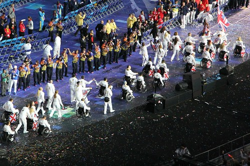 The arrival of Team GB at the Opening Ceremony of the London 2012 Paralympic Games