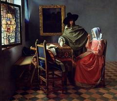 [ V ] Jan (Johannes) Vermeer - The Glass of Wi...