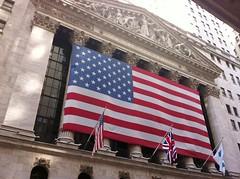 New York Stock Exchange Huge US Flag Photo i01...