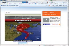 Hurricane Sandy 2012 (from Weather.com)