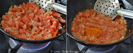 step 3 cook tomato kurma