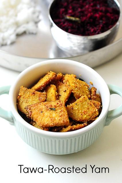 Yam Fry Tawa Recipe Raks Kitchen