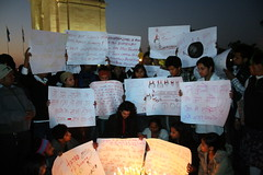 Silent Protest at India Gate