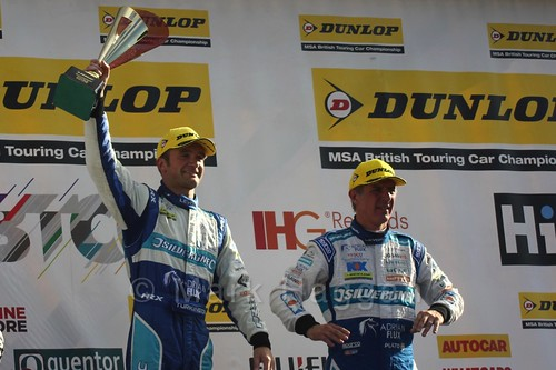 Colin Turkington and Jason Plato during the BTCC Brands Hatch Finale Weekend October 2016