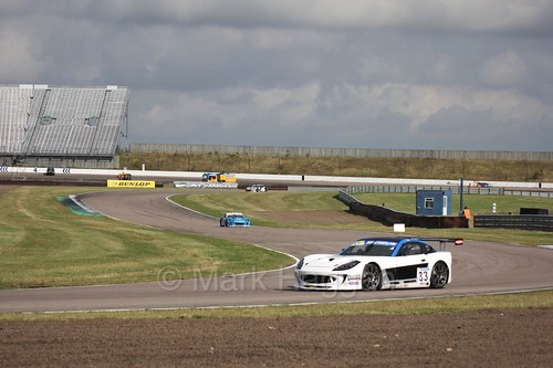 Chris Car in the Ginetta GT4 Supercup at Rockingham, August 2016