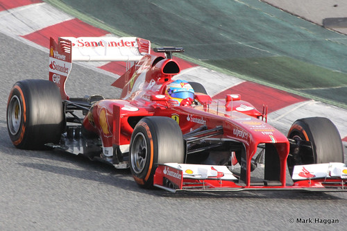 Fernando Alonso in is Ferrari at Formula One Winter Testing, 3rd March 2013